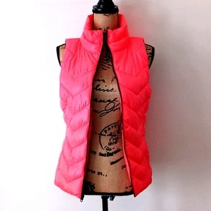 SO Neon Pink Lightweight Puffer Vest